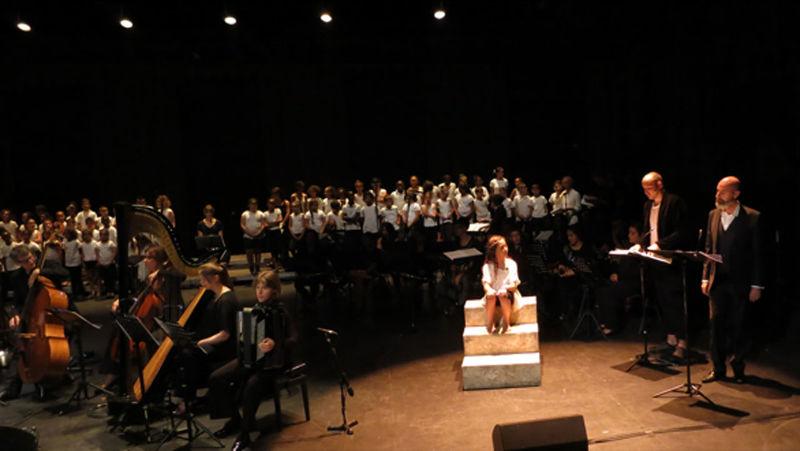 Galéjades  Ensemble C Barré et Sébastien Boin, direction artistique & musicale  Spectacle musical participatif pour comédiens, choeurs et orchestre